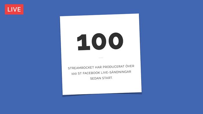 100 Facebook Live sändningar StreamRocket